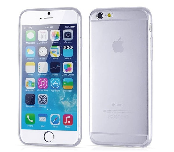 Transparent Clear Soft Silica Gel Case for iPhone
