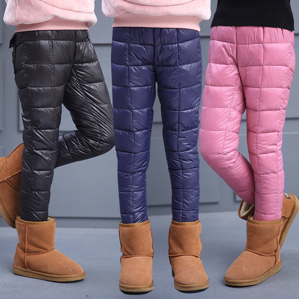 Children Warm Pants Girls Winter Cotton Pants - My Home Shopping Network