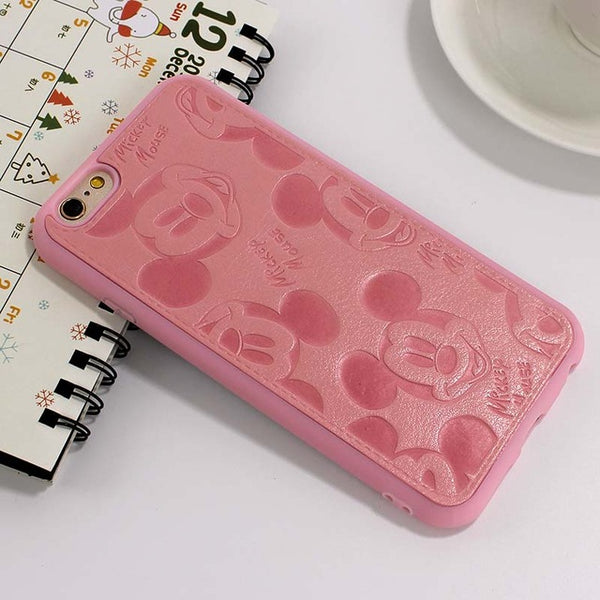 Silicone PU Leather Case For iphone