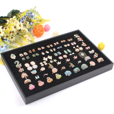 Black Ring Velvet Jewellery Display Box - My Home Shopping Network