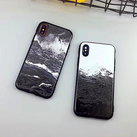 Cartoon Snow Mountain Sea Waves Painting Phone Case For iphone - My Home Shopping Network