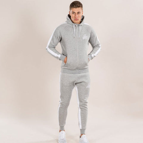 Men Long Sleeve Slim Sweat Suits Hoodies jacket Pants
