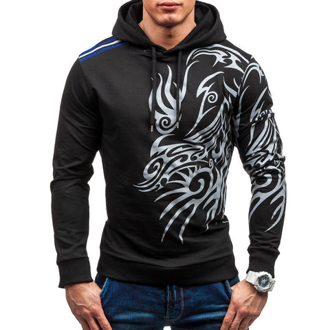 Large Size Men Hombre Hooded Zipper Hoodie Slim Fit Men