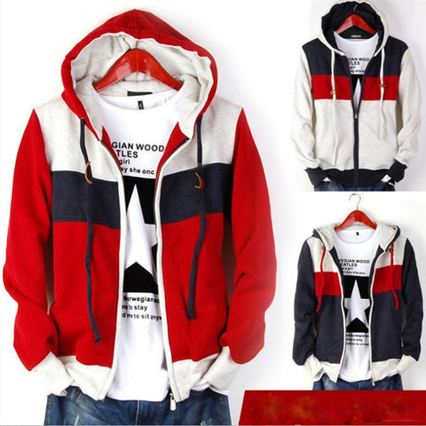 mens hoodies sweatshirts spring men's striped hooded man