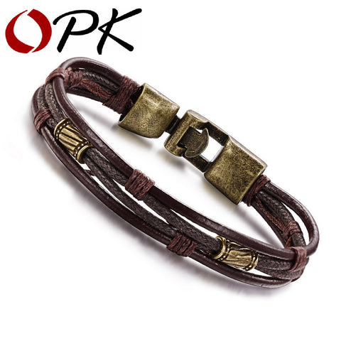 Leather Man Bracelet Casual - My Home Shopping Network