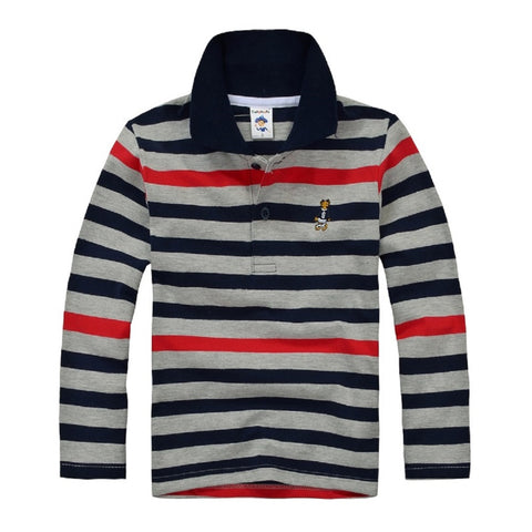 Boy Polo Long Sleeve Shirts T Shirt - My Home Shopping Network