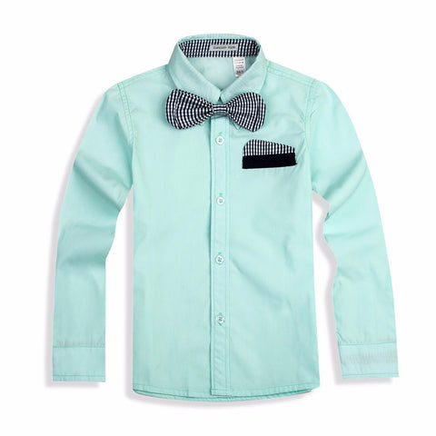 Boys Shirts Cotton 100%  With Tie Kids Shirts Clothing - My Home Shopping Network