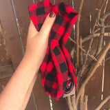 Buffalo Plaid Double Loop Infinity Scarf