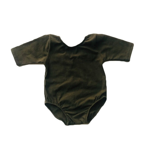 Olive Mid Sleeve Leotard