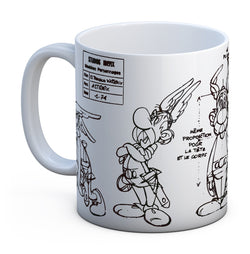 Asterix Sketch Character Craft Mug - Mug - Asterix - GalaxT