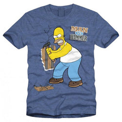 Man vs Hammer | The Simpsons T-Shirt  | GalaxT