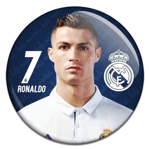 Real Madrid Cristiano Ronaldo Button Badge - Badges - Real Madrid C.F. - GalaxT
