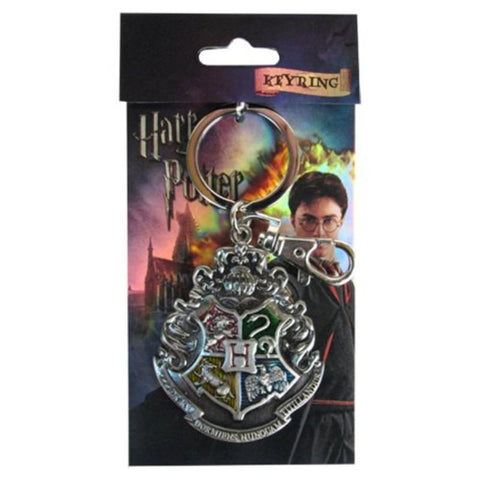 Harry Potter Hogwarts School Crest Pewter Keychain - Keychain - Harry Potter - GalaxT