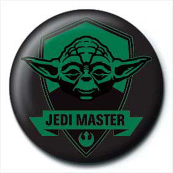 Star Wars Jedi Master Button Badge - Badges - Star Wars - GalaxT