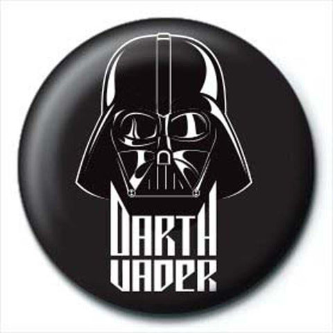 Star Wars Darth Vader Black Button Badge - Badges - Star Wars - GalaxT