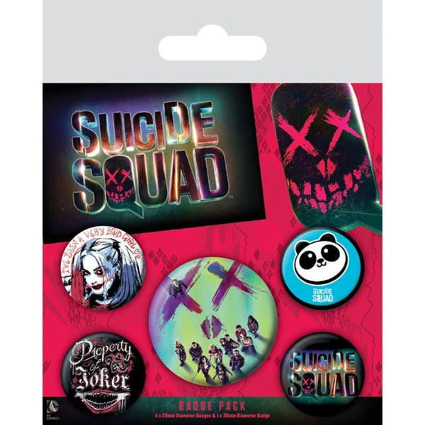 Suicide Squad Face Badge Pack - Badges - DC Comics - GalaxT
