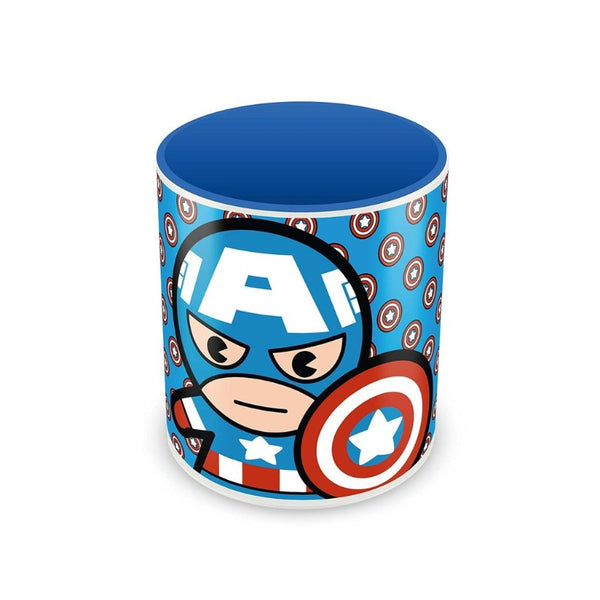 Captain America Kawaii Art Mug