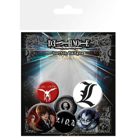 Death Note : Characters - Badges - Manga - GalaxT