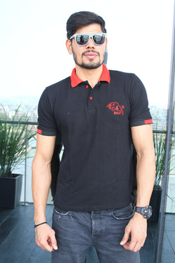 Bengaluru Bulls T-Shirt : Embroidered Bull Polo - T-Shirts - Bengaluru Bulls - GalaxT