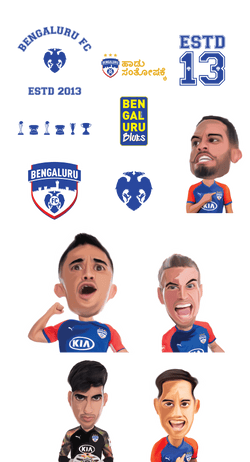 Bengaluru FC Stickers Bengaluru FC Stickers : Team, Logo & Quote