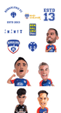 Team, Logo & Quote Stickers Set - Bengaluru FC - GalaxT
