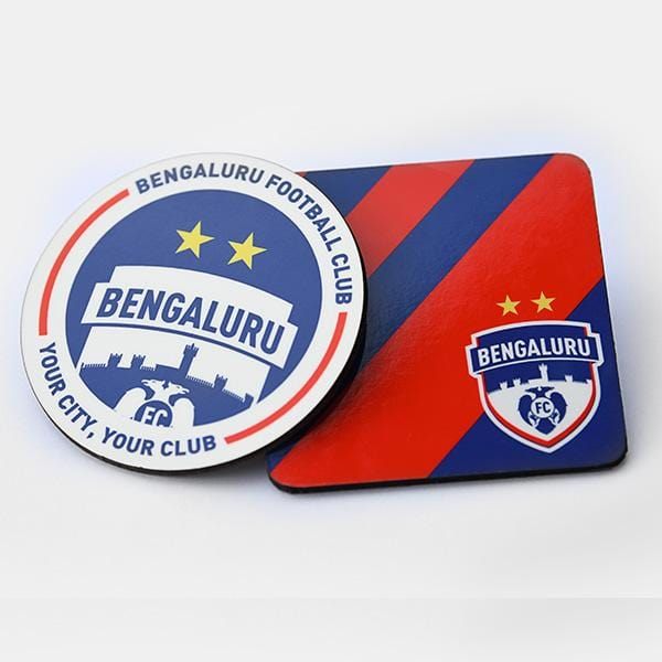 Set of 2 Brand Logo Coasters - Bengaluru FC - GalaxT