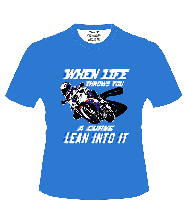 When Life Throws You, A Curve Lean Into It T-Shirt
