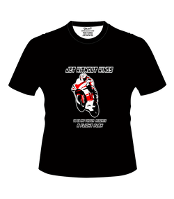 Bike India T-Shirts S / Black Bike India T-Shirt : Jet Without Wings, To Go Any Faster, Requires A Flight Plan