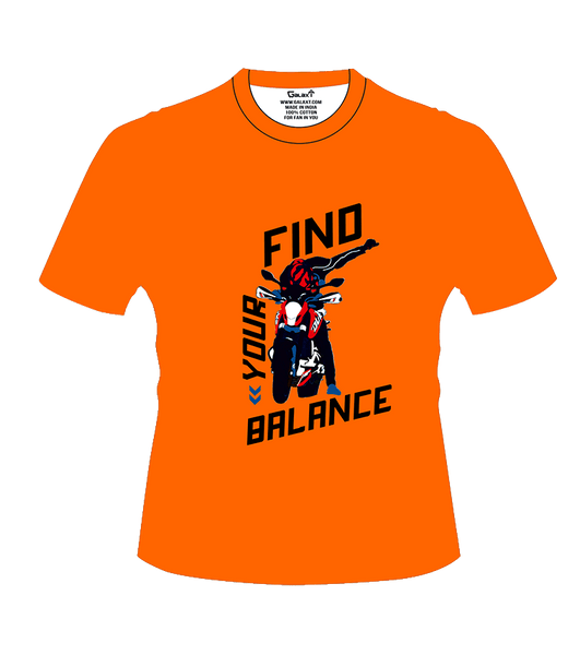Bike India T-Shirts S / Orange Bike India T-Shirt : Find Your Balance