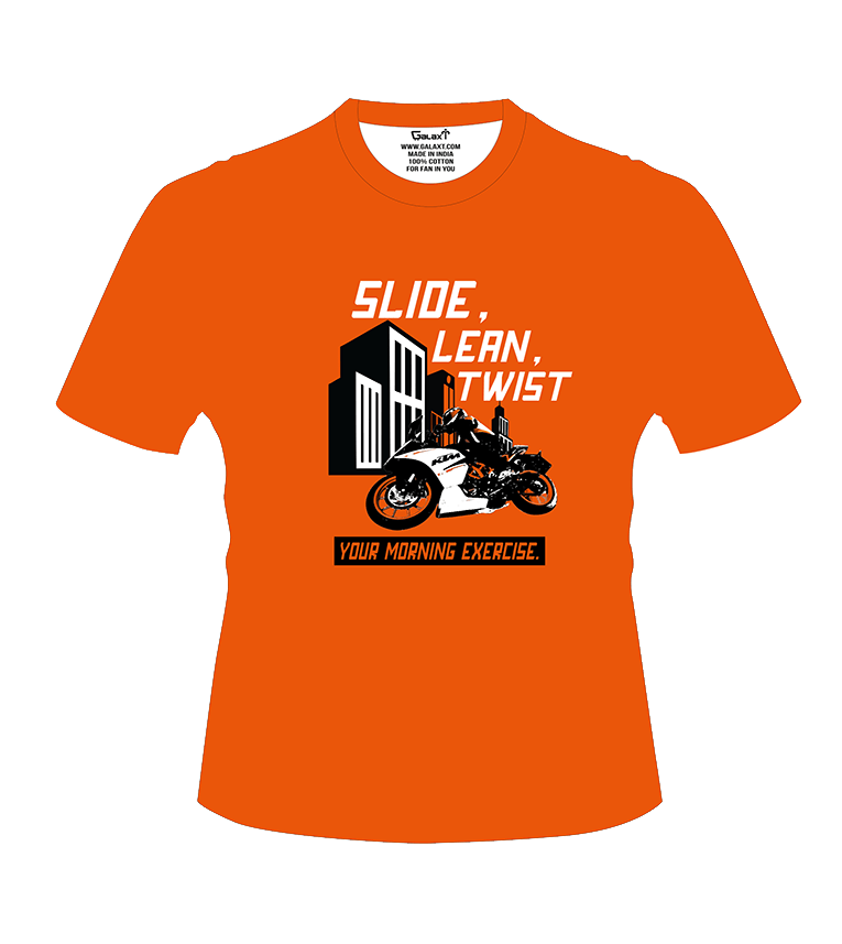 Slide, Lean, Twist, Your Morning Exercise! T-Shirt - Bike India - GalaxT