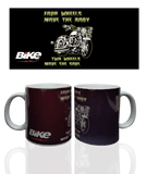 Four Wheels Move The Body, Two Wheels Move The Soul Mug - Bike India - GalaxT