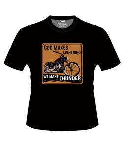 Bike India T-Shirts S / Black Bike India T-Shirt : God Makes Lightning, We Make Thunder