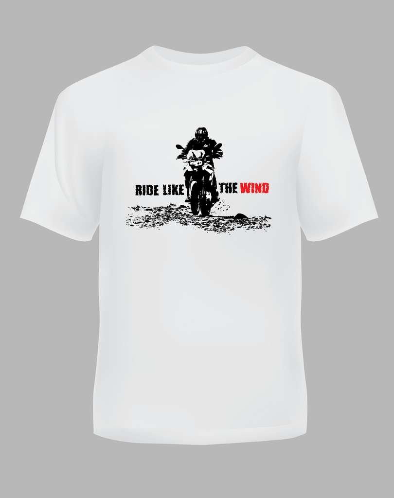 Bike India T-Shirts Bike India T-Shirt : Ride Like The Wind