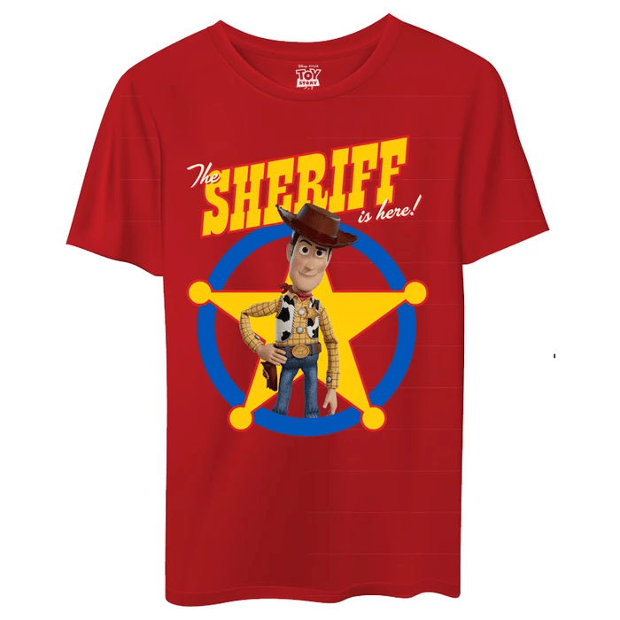 Toy Story Woddy The Sheriff Is Here T-Shirt - Disney - GalaxT