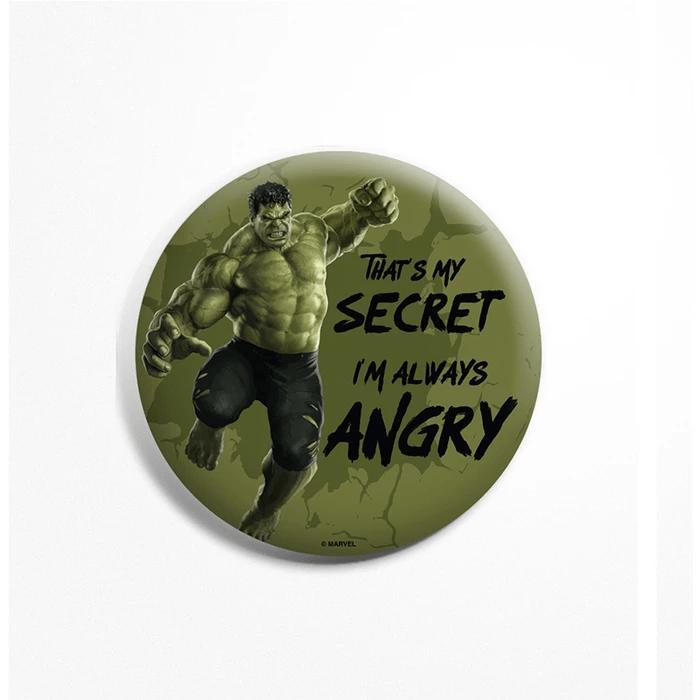 Avengers Hulk Always Angry Badge - Marvel™ - GalaxT