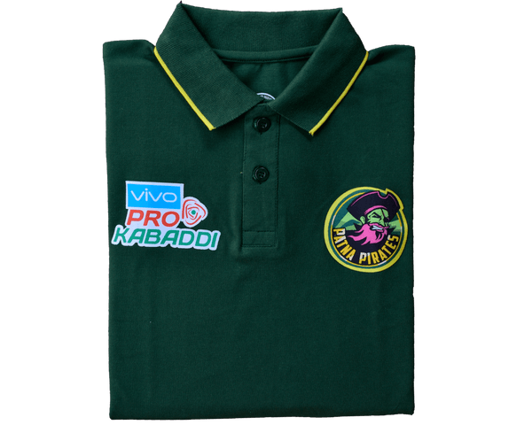 Patna Pirates T-Shirts Patna Pirates T-Shirt : Green Polo