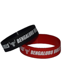 Silicon Rubber Wrist Band Bengaluru Bulls GalaxT Accessories Red Black Unisex