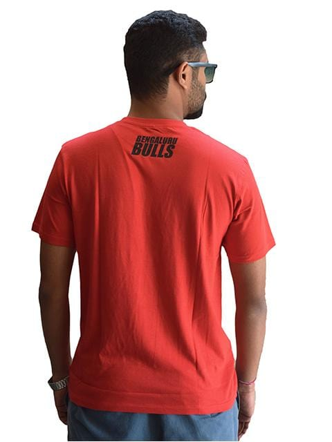 Bulls Text T-Shirt  - Bengaluru Bulls - GalaxT