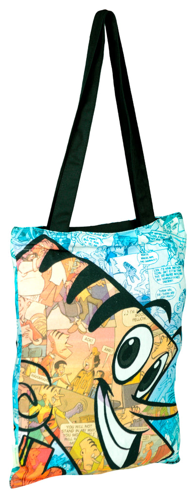Suppandi Collage Tote Bag - Tinkle - GalaxT