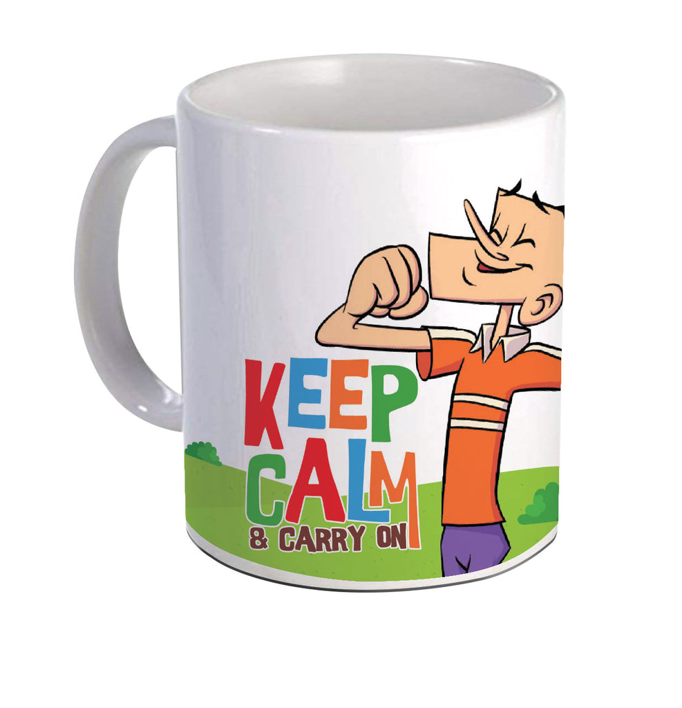 Suppandi Keep Calm White Mug - Tinkle - GalaxT