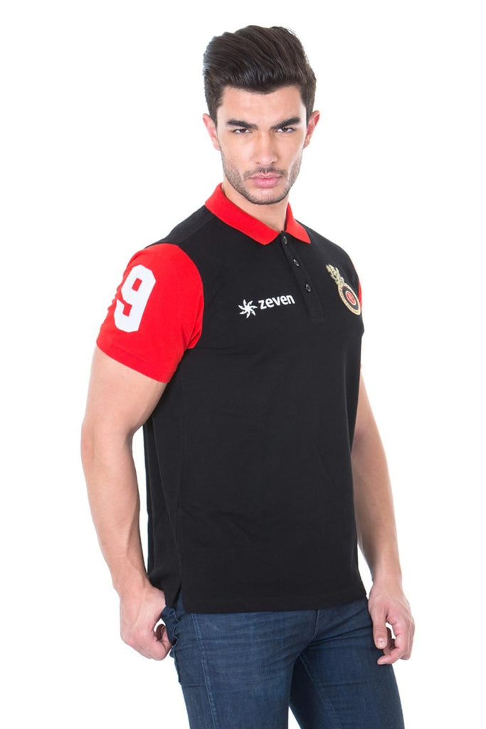 RCB T-Shirt : Player Polo - T-Shirts - Royal Challengers Bangalore - GalaxT