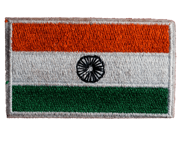 Indian Flag Patch : Velcro - Embroidered Patches - GalaxT - GalaxT