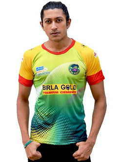 Jersey Polyester Patna Pirates Sports Fan Tee GalaxT Replica Pro Kabaddi