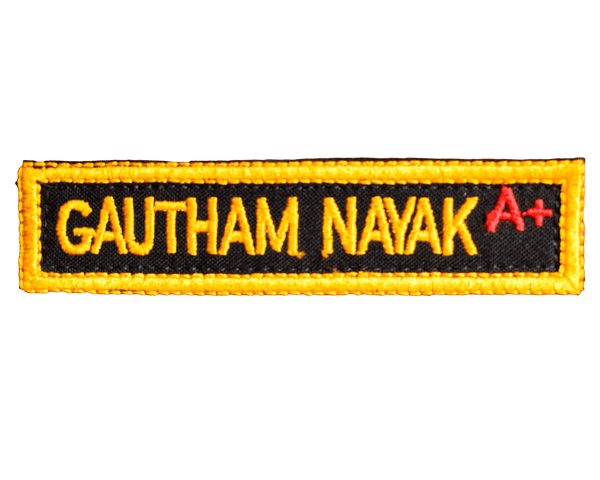 GalaxT Embroidered Patches [Your Name] Patch : Embroidered