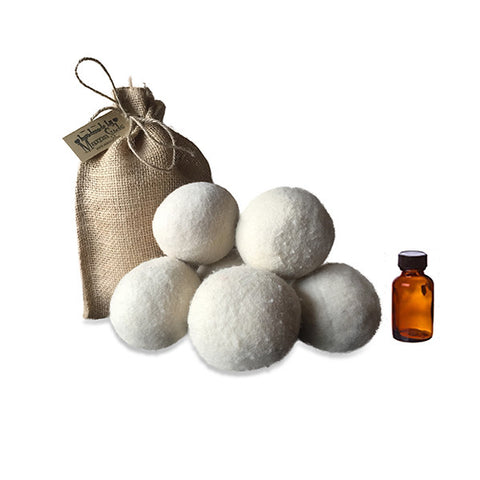 100% Wool Dryer Balls with Lavender Essential Oil