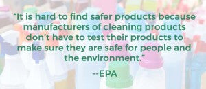 Cleaning Products EPA Quote