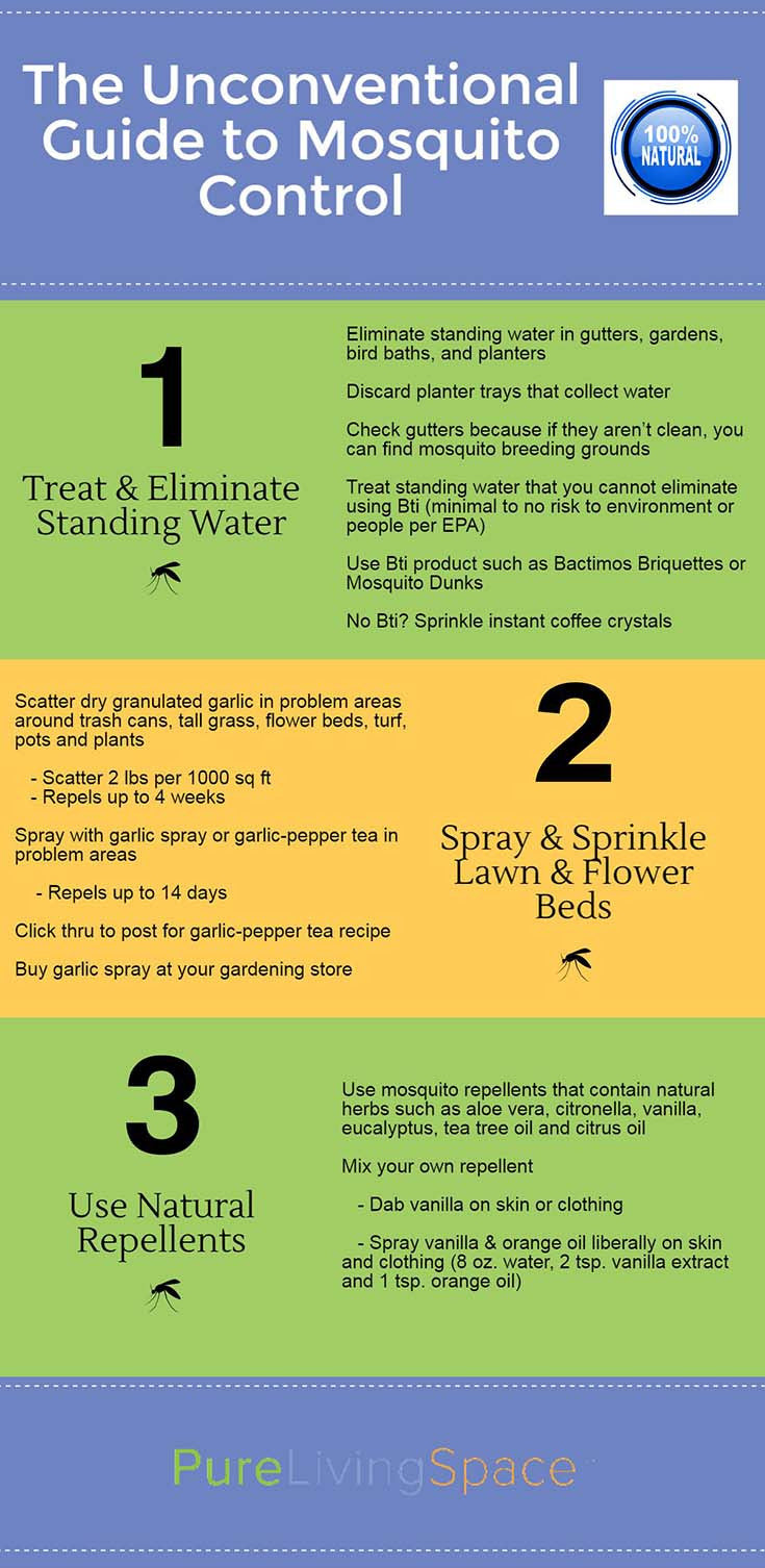 The best ways to naturally control mosquitoes!