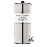 Propur Container Water Filter Traveler Model removes fluoride