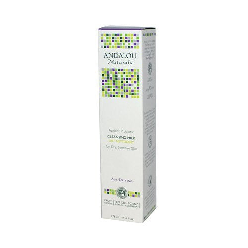 Andalou Naturals Cleansing Milk for Dry Sensitive Skin Apricot Probiotic - 6 fl oz - PureLivingSpace.com