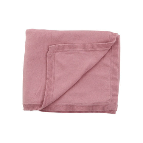 100% Organic Cotton Cashmere Blanket - Pink - PureLivingSpace.com